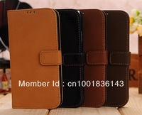 For shipping for Samsung Galasy S4 i9500 vintage PU leather wallet case