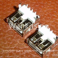 100 PCS USB Type-A Female  PCB Mount Socket Connector 4-pin New