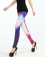 Wholesale + Free Shipping!! New!! Women Sexy Universe Galaxy Printing Leggings Pants Elasticity Fashion Space Tie Dye Milk Silk