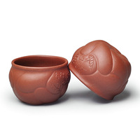 Handmade fish istikan clay tea cup  yixing  purple  clay  tea cup, tea bowl .Free shipping !