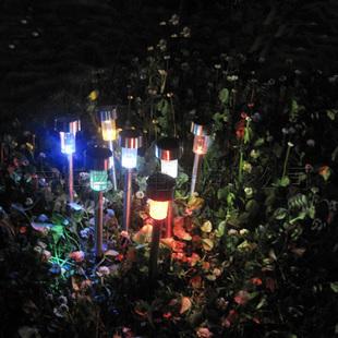 Solar garden lamp, lawn lamp LED garden light stainless steel ultra light multicolor optional