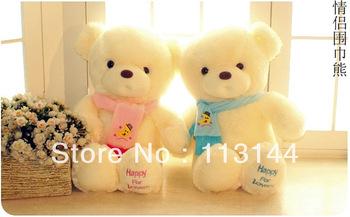 Free shipping 65cm soft stuffed lover's bears plush dolls with scarf ,discount stuffed teddy bear dolls,teddy for Valentine