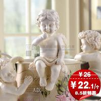 Set home decoration resin little angel flower pot decorations