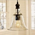 vintage european style clear glass cover E27 retro club bar cord pendant lamp with A19 free replace edison bulb simple design