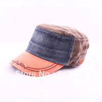 Fashion color block male millinery outdoor hat spring summer thin sunbonnet sun cadet cap