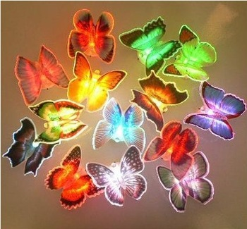Min.order is $15 (mix order) Novelty Cartoon Night Butterfly Light lamp,  Candles, LED Bulbs & Tubes,Free Shipping HDYD002