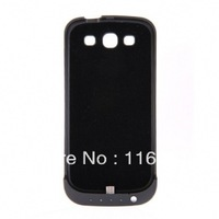 14PCS EMS Free shipping 3200mAh Power Bank Black Case For Galaxy S3 i9300