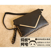 Hemming 2013 rivet bag rivets envelope clutch bag day one female shoulder bags