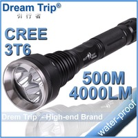 SKY-RAY 818 Flashlight 5 Mode 4000 Lumens 3 * CREE XM-L XML T6 LED Flashlight 18650 Battery Extendable High Power Torch