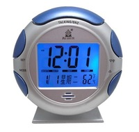 Free Shipping Stylish Football Style Thermometer Desktop Alarm Clock