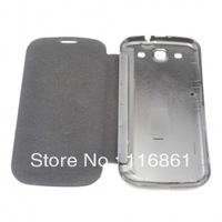 New Luxury Ultra-thin Leather PU + Hard Back Flip Case Cover For I9300 Galaxy S III (Black)
