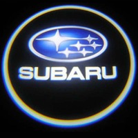 Car LED Door Lights For Subaru Car LOGO Decoration Door Prejection Auto Shadow Light Laser Lamp 2Pcs Free Shiping By HK Post