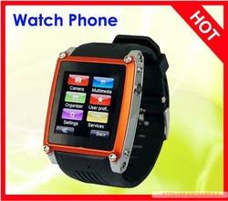 free shipping New 1.54''HD display Support JAVA 2.0 Bluetooth WAP MQ668 Ultra-thin watch mobile phone(China (Mainland))
