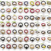 Free Shipping Popular Good Wood Wooden Bracelets ,Hip Hop Wooden Beaded Colorful Bracelets 50pcs/lot  Mix Items