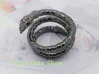 Free Shippig Fashion Black Snakelike Ring Bracelet Famous Logo Printed Original Package (Dust Bag and Gift Box ) #CB06