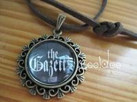 Free shipping Japan rock band The gazette logo zinc alloy glass pendant retro necklace for fans