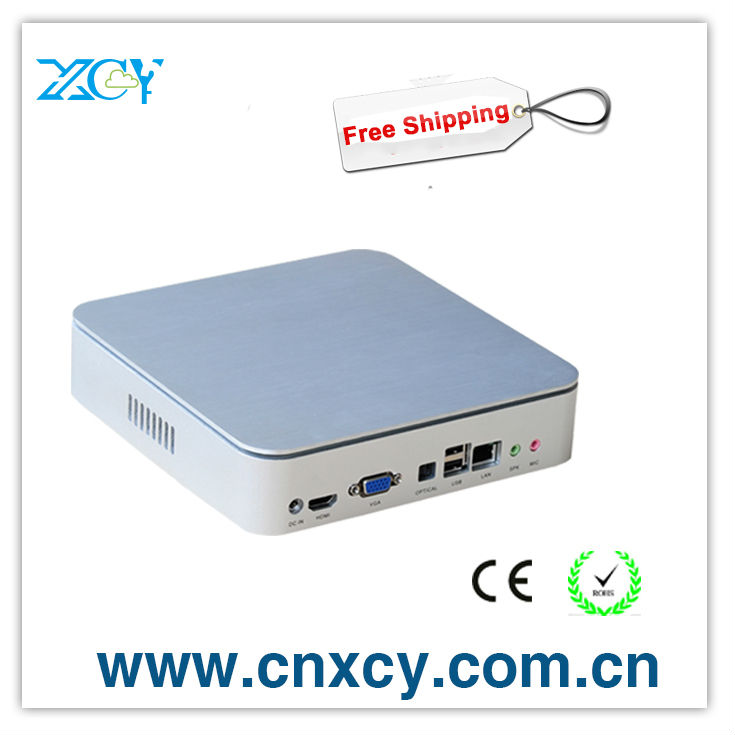 Mini Computer Thin Client x86 mini htpc XCY X24 Dual Core 1.8GHz CPU 2GB RAM 8GB SSD HDMI and DVI Port support Windows 7 Linux(China (Mainland))