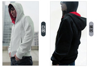 Free ship Assassin's Creed III 3 Desmond Miles Hoodie Top Coat Jacket Cosplay Costume Gift