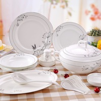 56 bone china dinnerware set fashion the plate ceramics bowl wedding gifts c08