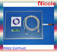 """New 17"""" Inch USB Touch Screen Panel Kit for Windows 7  free shipping # BH00050"""