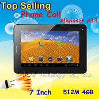 Планшетный ПК Dual Camera Allwinner A13 MID Tablet PC A13 Q88 7 inch Capacitive Screen - Google Android 4.0 Wifi External 3G SG Post