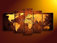 hand painted decorative painting mural world map framed abstract oil painting on canvas t04 home decor world map