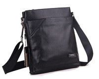 Commercial fashion full-grain leather male vertical messenger bag shoulder bag