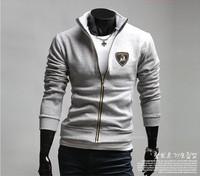 Free Shipping 2014 New Men's Jackets Letter Jacket Hot Men's Casual Coat/Men's Hoodie Color:black,Gray Size:M-L-XL-XXL