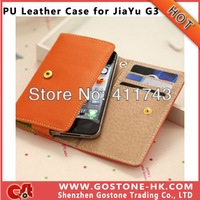 High Quality JIAYU G3 Leather Case , Wallet Flip Case Cover for JY G3 , Free Shipping 10 pcs/Lot