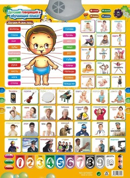 Russian characters sound wall charts Baby's favorite educational toy russianized Free shipping