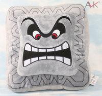 Cushion Pillow Thwomp Dossun Super Mario  Plush Doll for Children gift Hot sale 23cm free shipping