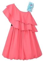 2013 summer yellow pink cotton chiffon vestido menina saias femininas za tunic boho prom princess dress PFXS41P18