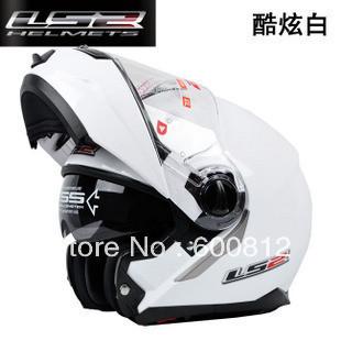 Double ls2-386 undrape surface helmet lens motorcycle helmet male winter Women deceleration lenses Motorcross helmet ABS Helmets