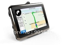 2013 Newest 4.3inch super slim design fashion GPS car navigation built in 4GB FM transimitter window CE 6.0load New 3D Map