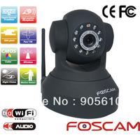 Foscam FI8918W CCTV Camera WiFi Wireless Pan/Tilt IR IP 2-Way Audio iphone View Black EMS FREE SHIP