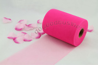 Free Shipping Wholesale 5pcs Hot pink Tulle Spool Rolls Wedding Decoration