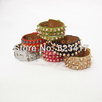 Stylish cool punk style rivets bracelet adjustable wristband unisex chain cuff china wholesale supplier