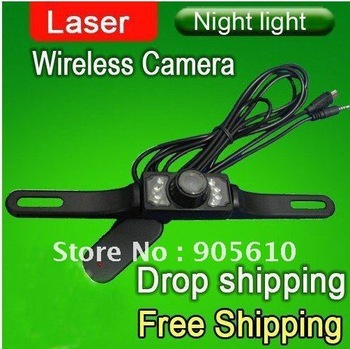 FREE &DROP shipping!! High Quality Wireless Car Rear View Camera for GPS Day/Night wireless rear camera