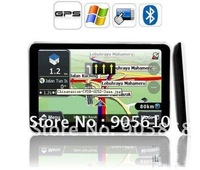 "5"" GPS 4GB maps 128M DDR HD800*480 Slim car GPS navigation with Bluetooth FM AV IN free shipping"