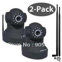 2x Foscam FI8918W Wireless IP Camera PT with 9dbi Antenna (Stronger WiFi Singal)