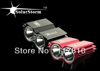 Free POST 2xCree XML U2 LED Bicycle Light 5000 Lumens Rechargeable Bike Light LED flashlight+Power Indicate 8.4v Battery Pack