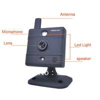 2 pcs Foscam FI8907W Video Baby Monitor webcam, Wireless N IP Camera (Black) Auto IR-LED illumination night Black/White