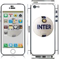 inter milan sticker for iphone 5 /  color film / soccer standard  2colour white / bule