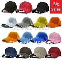 New Cotton Baseball Golf Plain Blank Ball Cap Hat -Many Colors