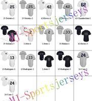 Free shipping-Wholesale NYY White/Grey/Black jerseys,Baseball team jerseys,10Pcs/Lot