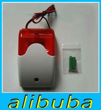 New Wired Flashing Light Strobe Siren For Wireless Home Alarm System 110 dB