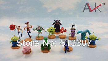 5set  TOY STORY 3 BUZZ LIGHTYEAR WOODY Figures SET  13pcs/set  toy story figures