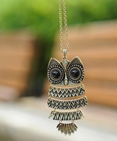 Min Order15$ Free Shipping New Arrival owl  Necklace For Women Good Quality Fashion Jewelry  pendant size 45X95mm
