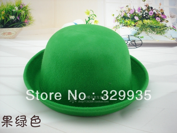Spring and summer Korean ladies hat lady playful dome the small hat wool woolen curling retro cap jazz hat(China (Mainland))