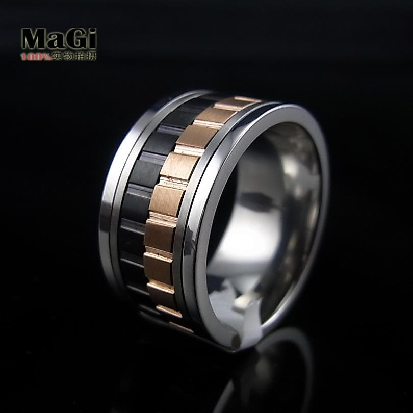 Jewelry Gold male ring fashion personalized thumb unique rotating the trend of titanium accessories(China (Mainland))